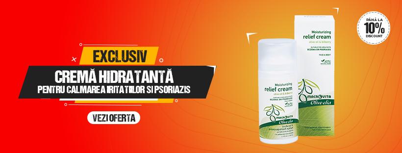 Crema hidratanta pentru calmarea iritatiilor si psoriazisului